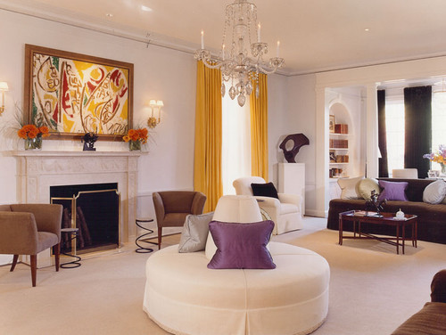 traditional living room by Brown Davis Interiors Inc.