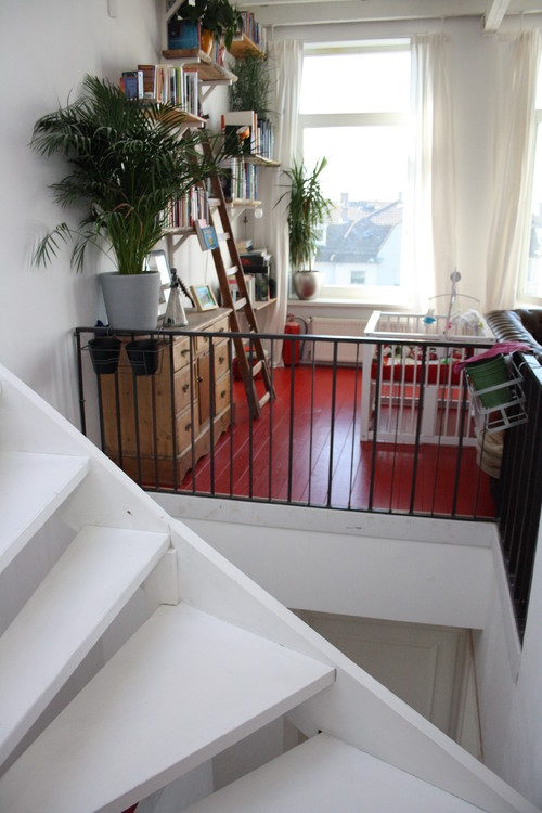 Houzz Tour: A light-filled South Holland eclectic coastal home eclectic staircase