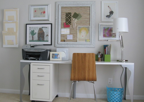 Big Round Pizza Box Office eclectic home office
