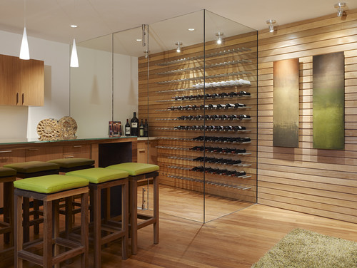Fulcrum Structural Engineering modern wine cellar