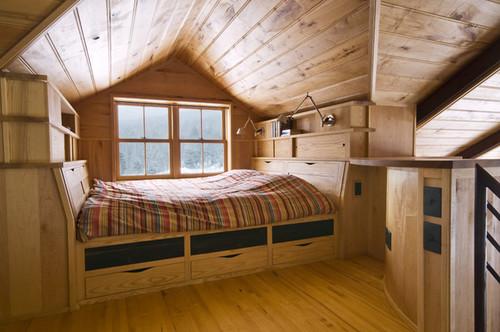 Vermont Organic Farm contemporary bedroom