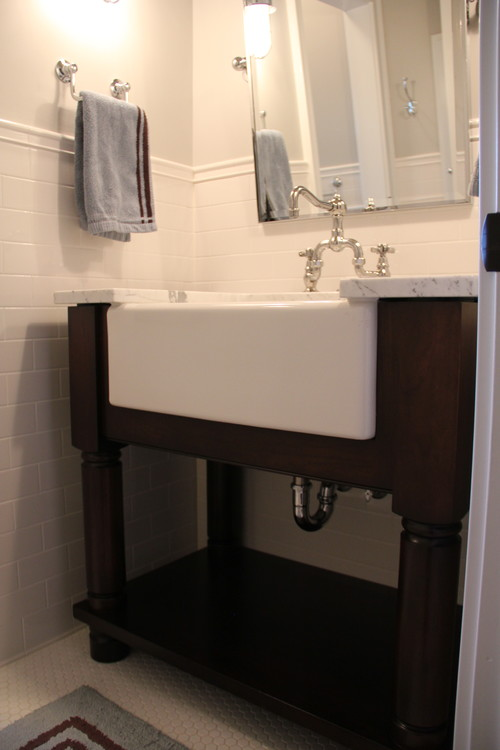 the granite gurus: faq friday: farmhouse sink in the bathroom?