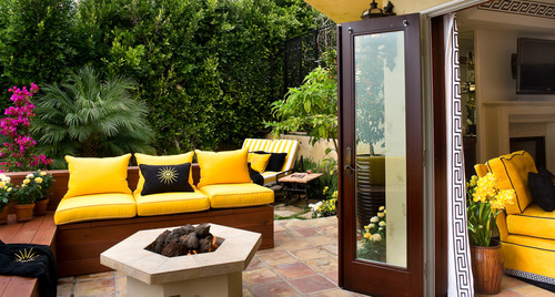 Indoor outdoor living mediterranean exterior