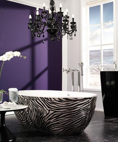 Stone One Zebra eclectic bathroom