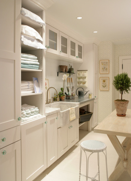 cool glass knobs eclectic laundry room