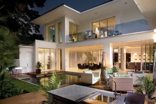 2012 New American Home contemporary exterior