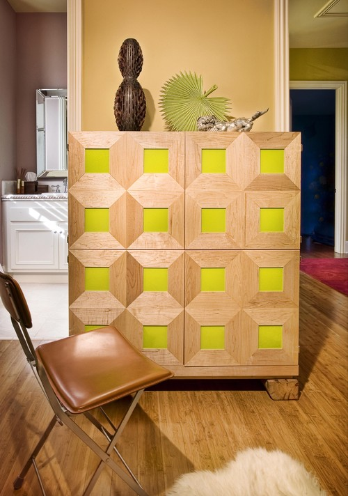 Home Office Cabinet in Guestroom in Sonoma Residence modern home office