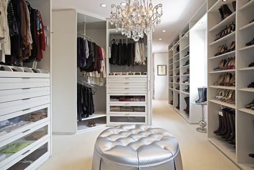 The Classic White Closet - Hancock Park, CA Residence contemporary closet