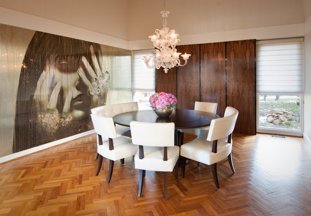 modern dining room by Design Loft Interiors