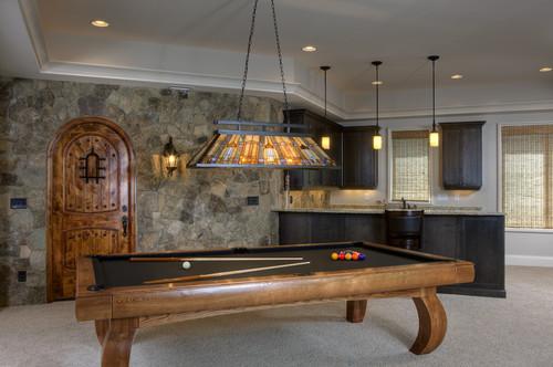 Billiards traditional media room