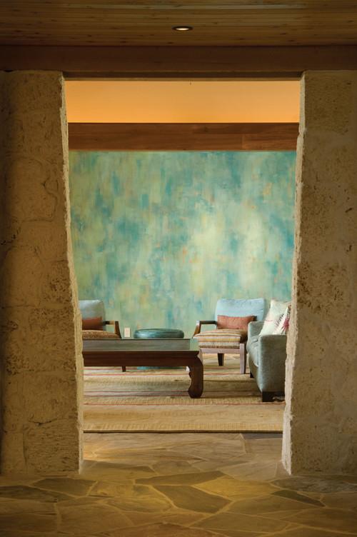Modern Perch tropical living room