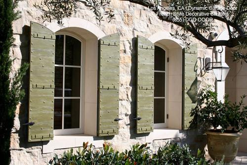 Custom Crafted Architectural Decorative Window Shutters mediterranean exterior
