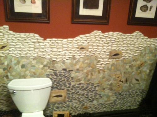 Basement Fossil Bathroom eclectic bathroom