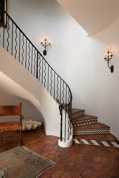 Cottage 52 Foyer & Stair Hall mediterranean staircase