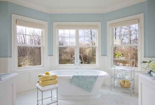 traditional bathroom by Garrison Hullinger Interior Design Inc.