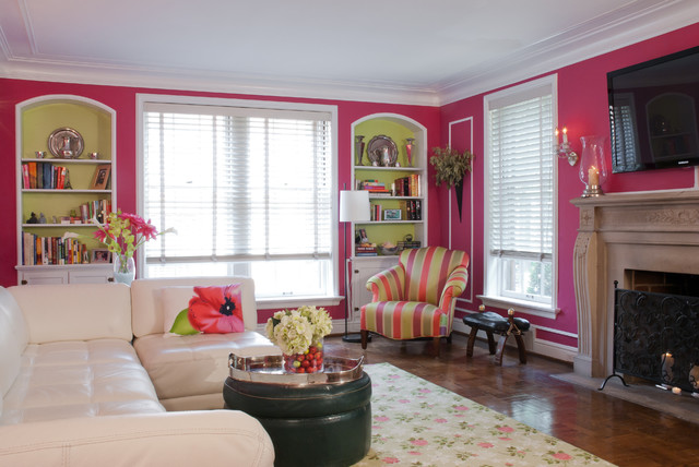 traditional living room by Joni Spear Interior Design
