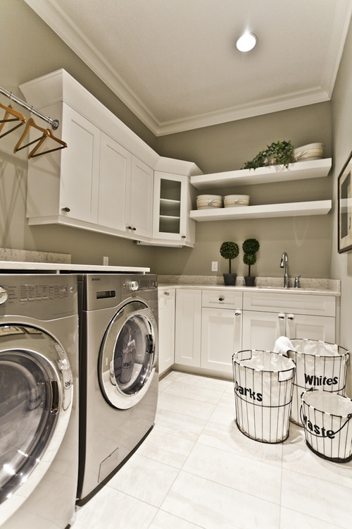 Lottery Home 2011 - the Mackenzie contemporary laundry room