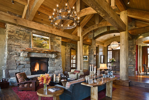 Montana eclectic living room