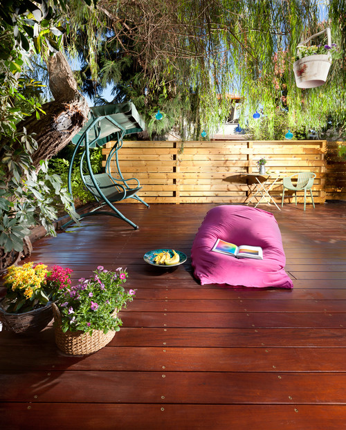 exterior eclectic patio