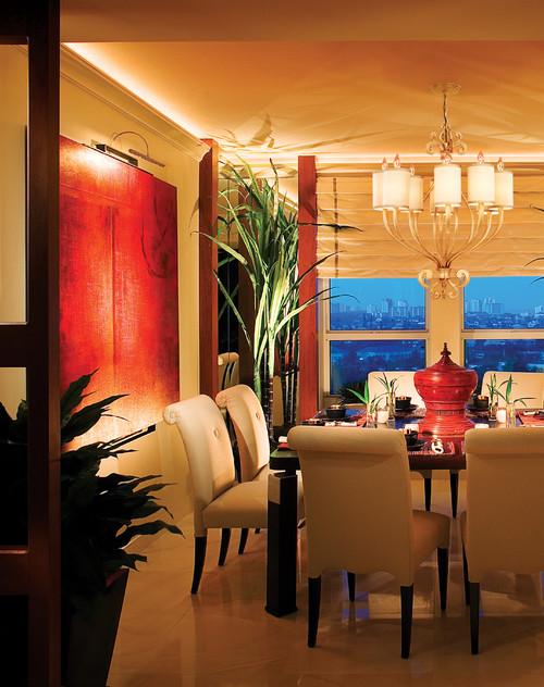 Corbett Lighting contemporary dining room