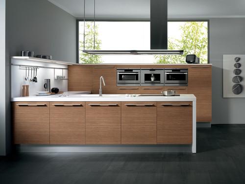 SINTESI by Snaidero design - Daniela walnut melamine contemporary kitchen