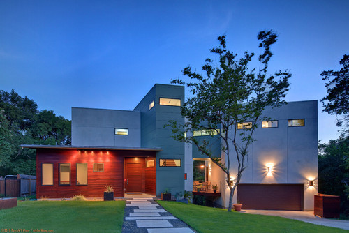 modern exterior by Nick Mehl Architecture