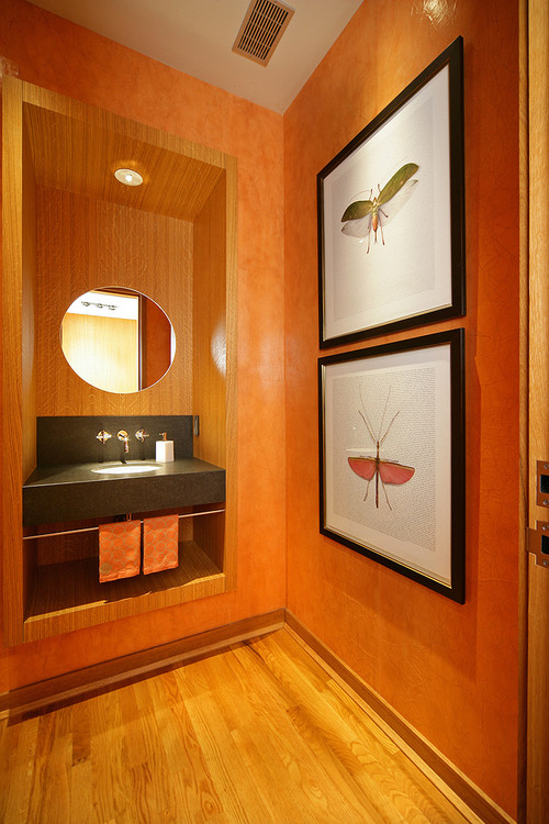 Woodland Residence contemporary powder room