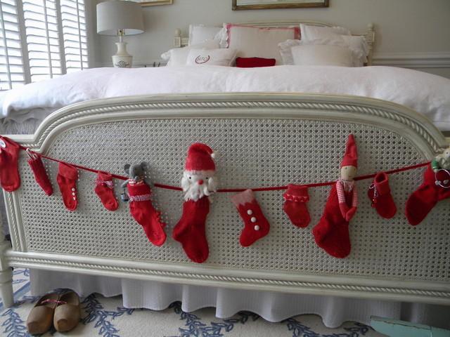 contemporary bedroom A Swedish Christmas http://threepixielane.blogspot.com/2010/12/swedish-christmas