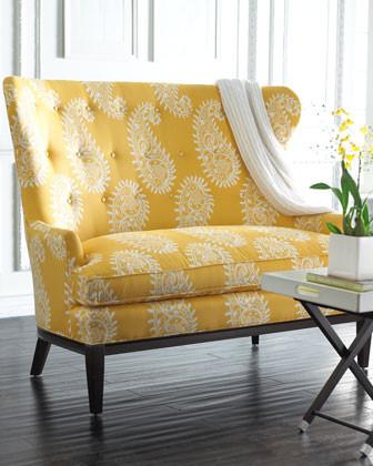 Paisley Settee traditional sofas
