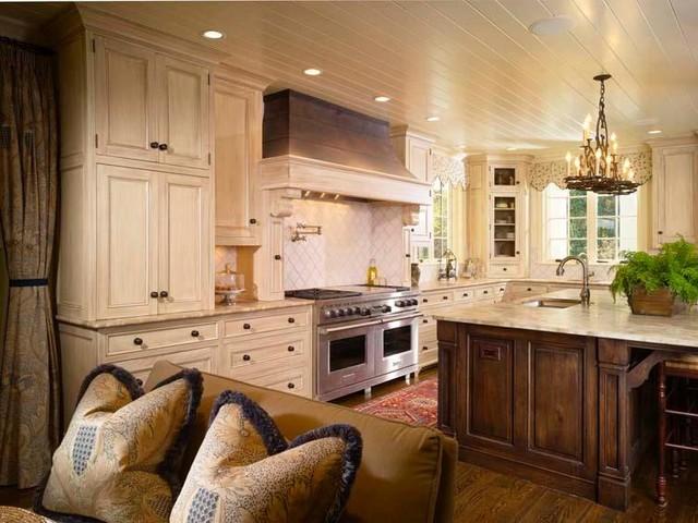 French Style Kitchen Atlanta Morgan Creek Cabinet
