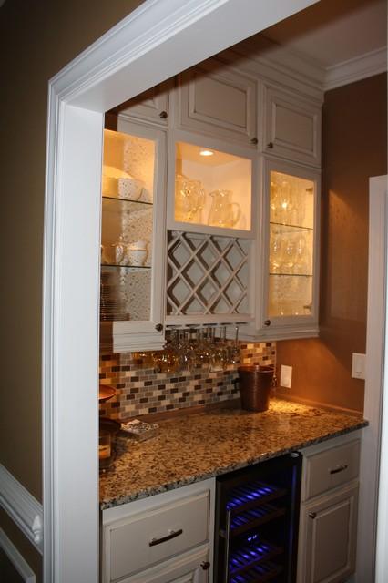 Wine Nook Kitchen Atlanta By Kregs Custom Carpentry