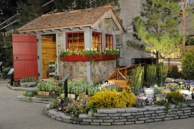 Garden Sheds And Structures Traditional Garage And