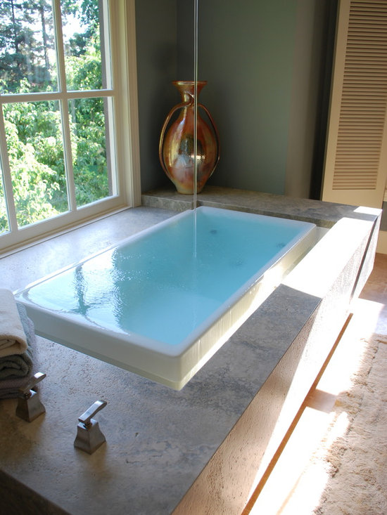 Infinity Edge Bath Tub Design Ideas Pictures Remodel And
