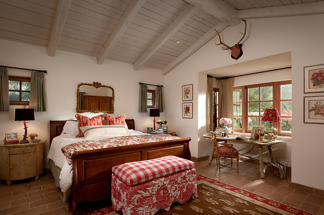French Country Estate mediterranean bedroom