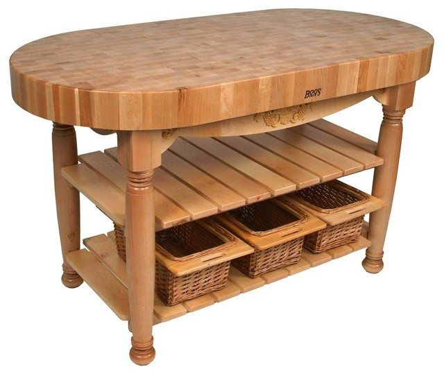 Kitchen Work Table Butcher Block Contemporary Dining Tables