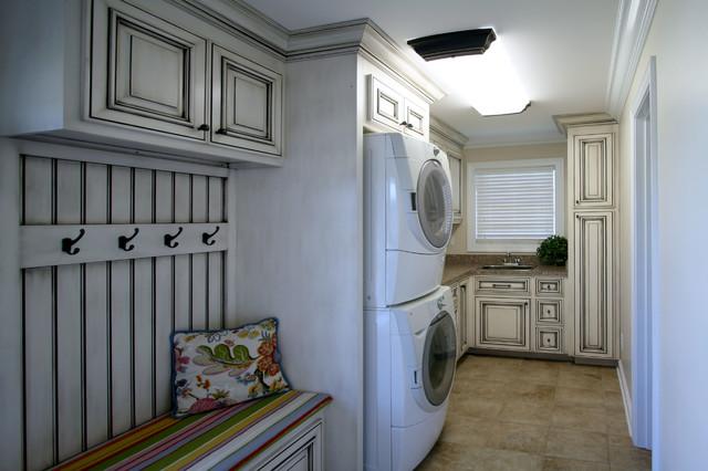 Wash, Sort, Stack traditional-laundry-room
