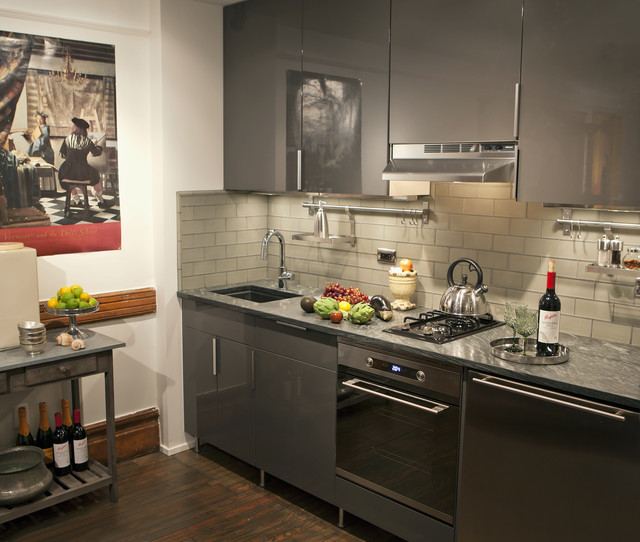 Harlem Townhouse Apartment Eclectic Kitchen New York - Kitchen Wall Cabinet Height