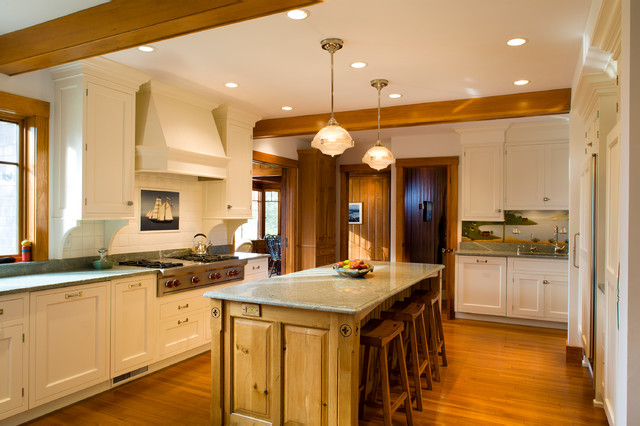 Cape Cod Summer Residence Traditional Kitchen Boston