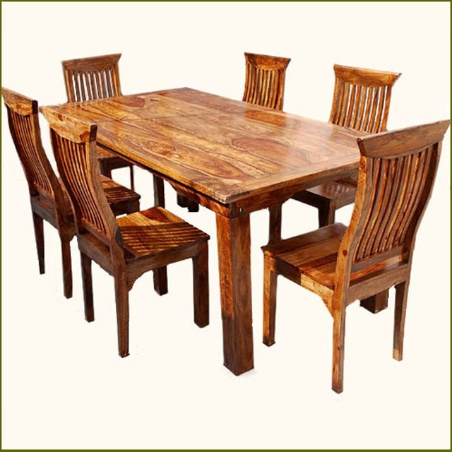 Wood Dining Table Austin Tx. pc solid chair set rustic sets