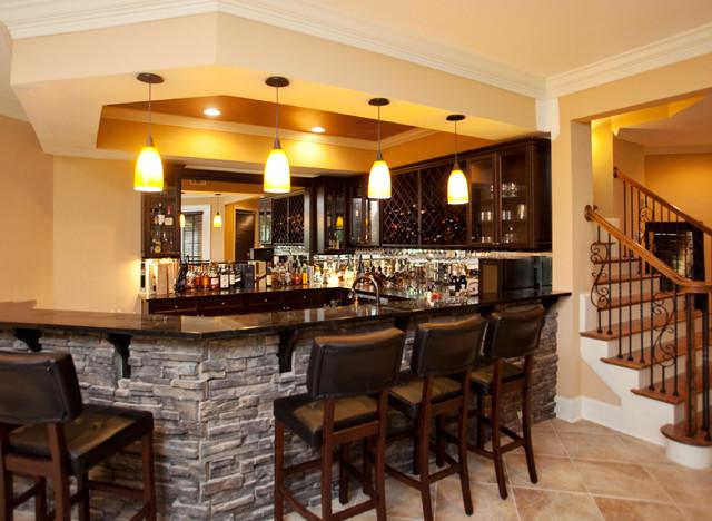 Basement Remodeling Ideas: Bar For Basement