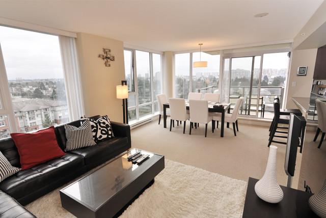 Condo Richmond Contemporary Living Room Vancouver