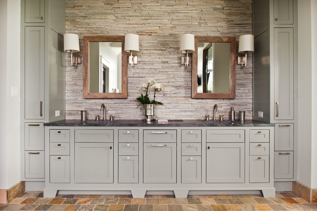 Mountain Road Residence rustic-bathroom