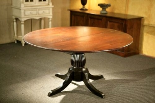 Round Kitchen Tables With Black Fluted Pedestal