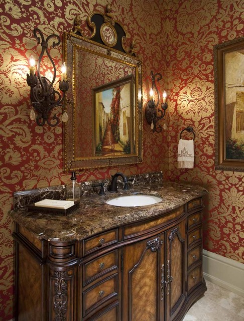 Formal Powder Bath Traditional Powder Room Dallas