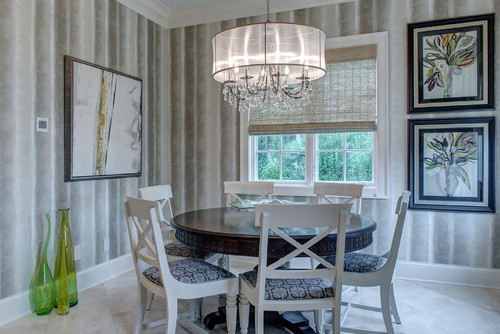 Transitional Dining Room By St Louis Interior Designers Decorators Maria Degange