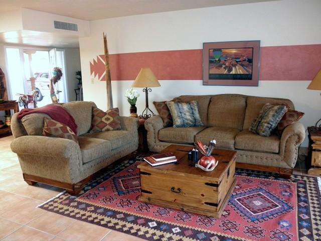 Den Southwestern Living Room