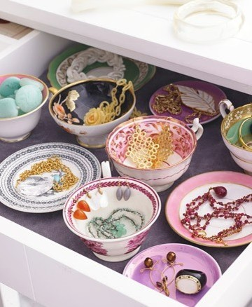 tea cup saucer drawer traditional closet