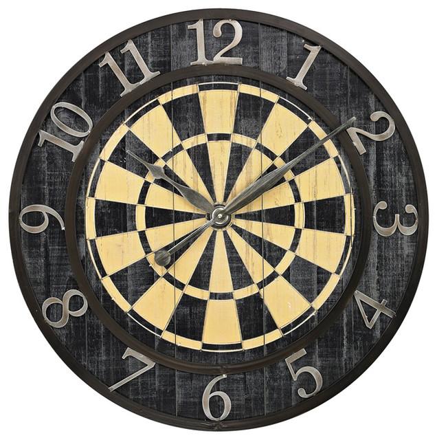 Sterling 26 8671 Dart Board Wall Clock Transitional Wall Clocks By Lighting Front