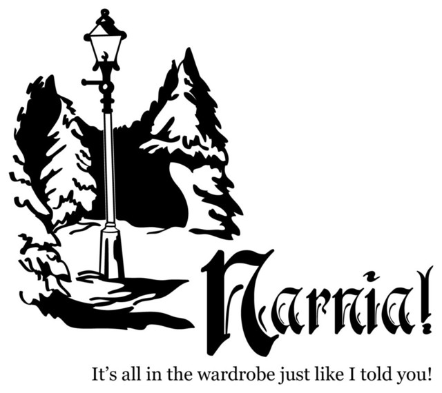 Chronicles Of Narnia Lamp Post Quote Wall Decal Modern