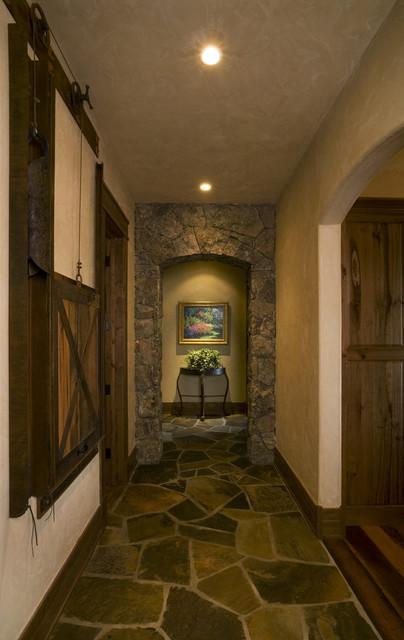 Lake Cabin Hallway Rustic Hall Denver By Lynne
